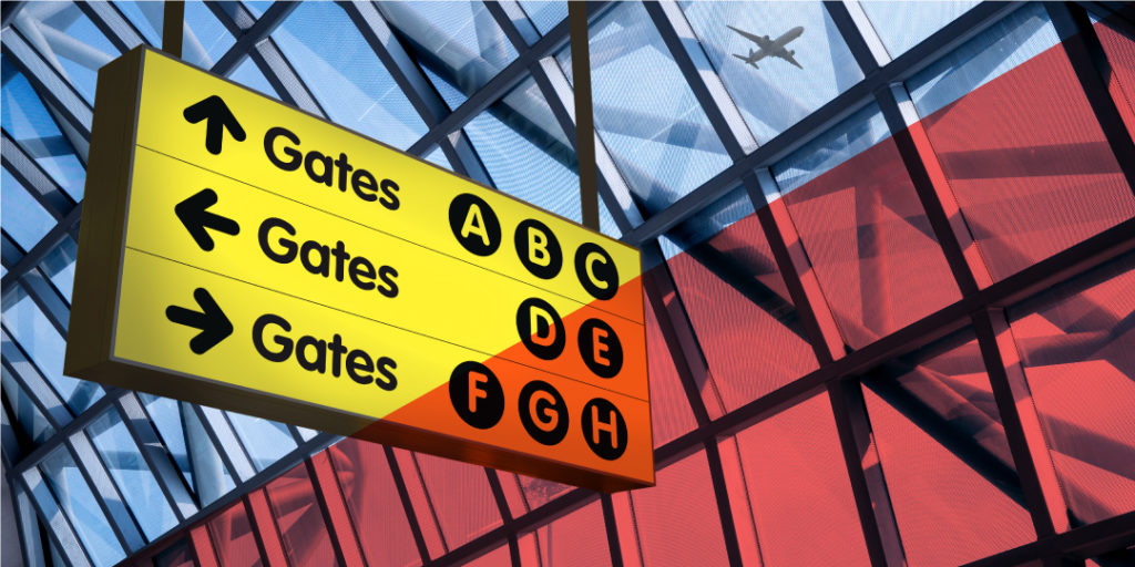 Realizamos programas de señalética y señalización para aeropuertos